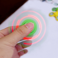 LED Light Fidget Spinner Finger ABS EDC Double Glow Hand Spinner Tri For Kids Adults Autism