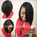 New Fashion Black Hair Short Cut Bob Wigs With Baby Hair Top Quality Heat Resistant Synthetic Lace Front Wig For Women