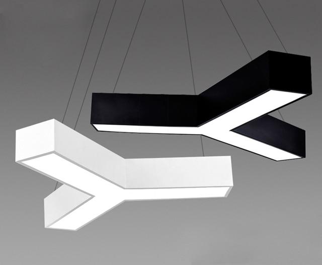 Modern Office Lighting Minimalist Office LED Pendant Lights Profiled Y Word  Creative Bar Office Furniture Pendant