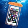 Saco selado à prova d' água para iphone 5 6 7 samsung android dispositivos abaixo de 5.7 polegada do telefone case mergulho natação parceiro sensível toque