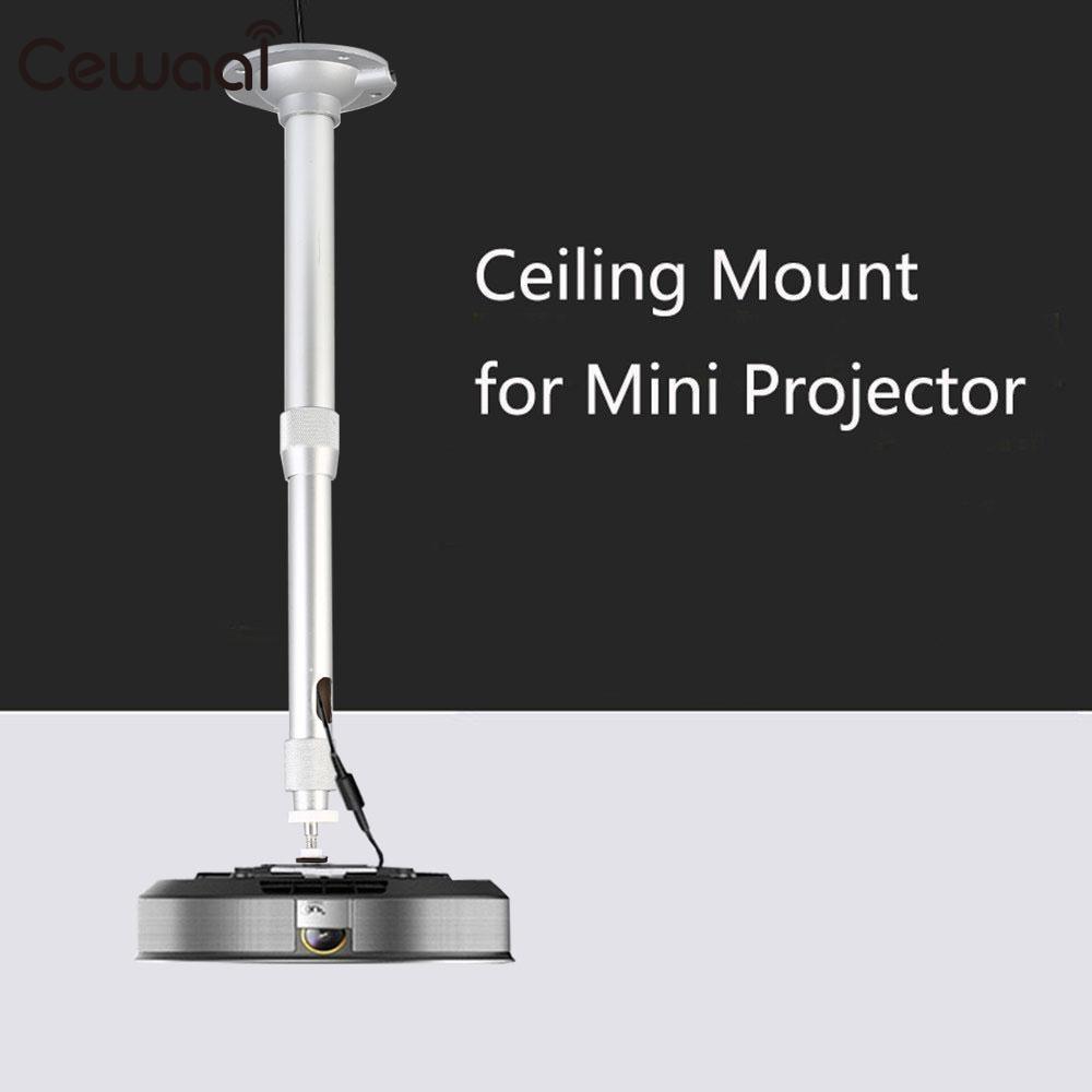 Cewaal 5kg Aluminum Alloy DLP LCD Mini Projector 360 Degree Adjustable Extendable Ceiling Wall Mount Bracket Hang Holder Stander