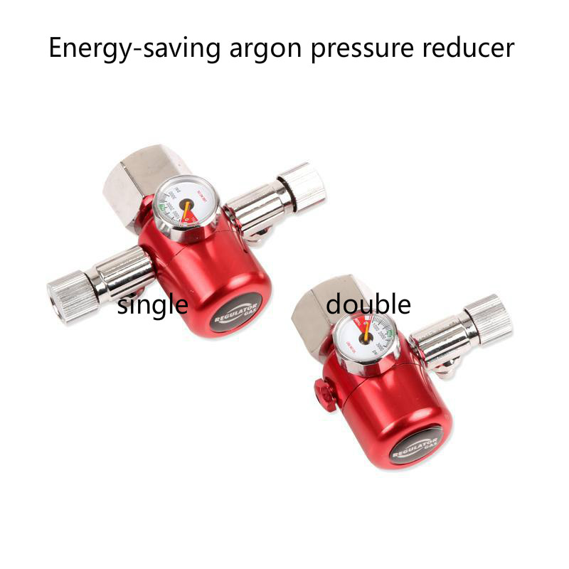Argon gas saving type Gauges Pressure Reducer Mig Flow Meter Control Valve Dual Gauge Welding Regulator цена