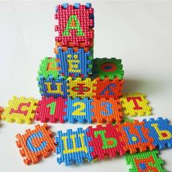 Darmowa wysyłka 36 sztuk/zestaw rosyjski alfabet Jigsaw dywan EVA dziecko dzieci Puzzle nauka Mat zabawki dywan wczesne nauczanie maty podłogowe| |   -