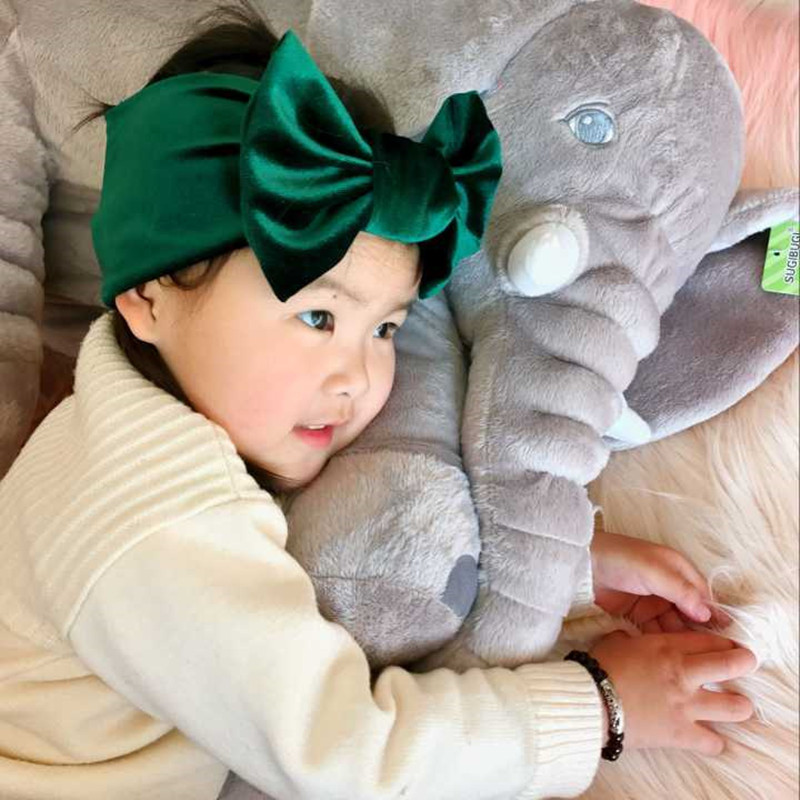 New Fashion 9colors Big bowknot Headband baby girl headbands Bow hair band children kid Cotton turban Head Wrap Hair Accessories new high quality baby hair accessories children s cute lace bowknot hair clips baby girl hairpin child hair bow ribbon headdress