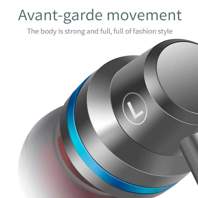 3 5mm mental in-ear earphone super bass hifi headset earbuds with  microphone wire control