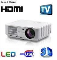 Звуковой Шарм светодио дный HD LED tv Android проектор HDMI 3D проектор для домашнего кинотеатра