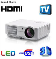 Звук Шарм Full HD LED tv проектор для android устройств HDMI 3D проектор для домашнего кинотеатра