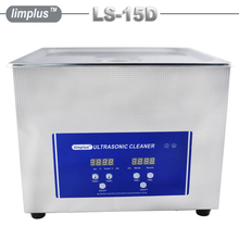 Stainless Steel Industrial Ultrasonic Cleaner 15L 40kHz Digital Timer Heating Cleaning Machine For Golf Club 110V/220V