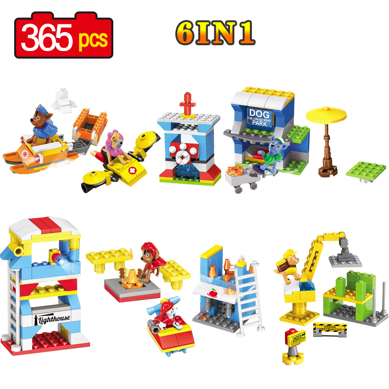 DIY Building Blocks Bricks Pet Puppy Dog House Model Building Blocks Classic Enlighten Figures Toys For Children 12pcs set children kids toys gift mini figures toys little pet animal cat dog lps action figures