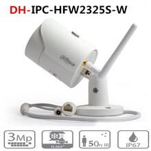 Dahua IPC HFW2325S W 3MP IR50M IP67 встроенный WIFI слот для sd карты сетевая наружная WIFI камера Замена IPC HFW1320S W ip камера