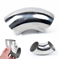 3 Inch/76mm Stainless Steel Car Exhaust Weld 90 Degree Bend Elbow Pipe Parts 1x Silencieux Automobiles et Motos -