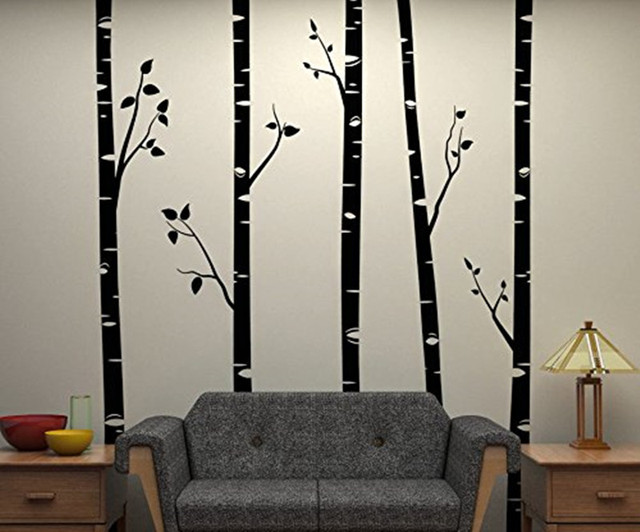 Aliexpresscom Buy Large Birch Trees With Branches Wall - Vinyl wall decals birch tree