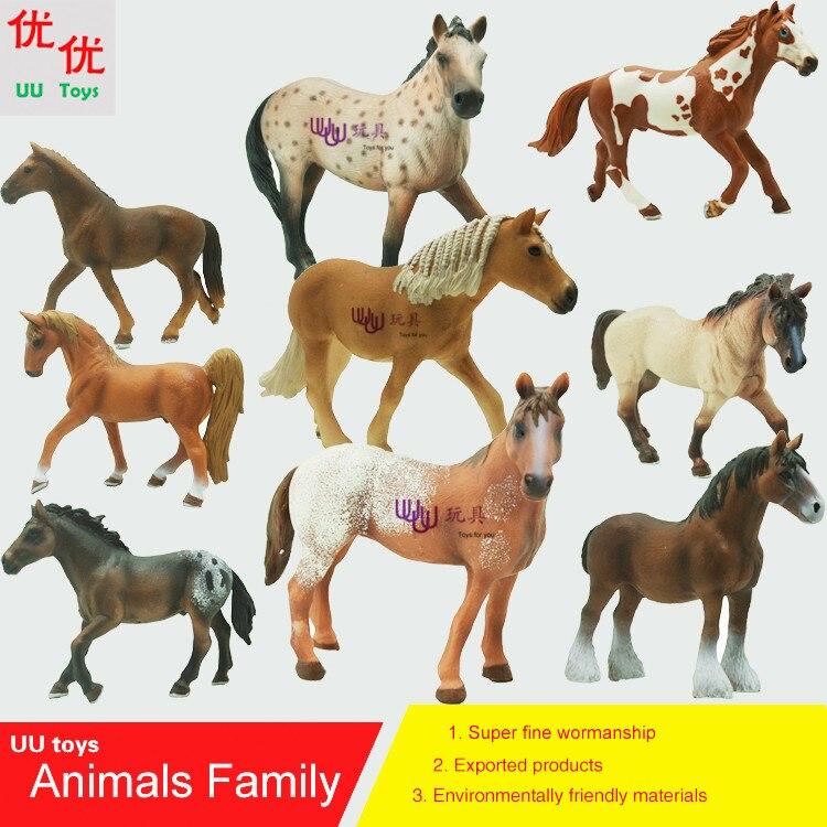 Sıcak oyuncaklar: At aile paketi Simülasyon modeli Hayvanlar çocuk oyuncakları çocukların eğitim dikmeler