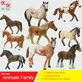 Juguetes calientes: Caballo de la familia paquete de modelo de Simulación de Animales para niños juguetes educativos para niños props figura de caballo