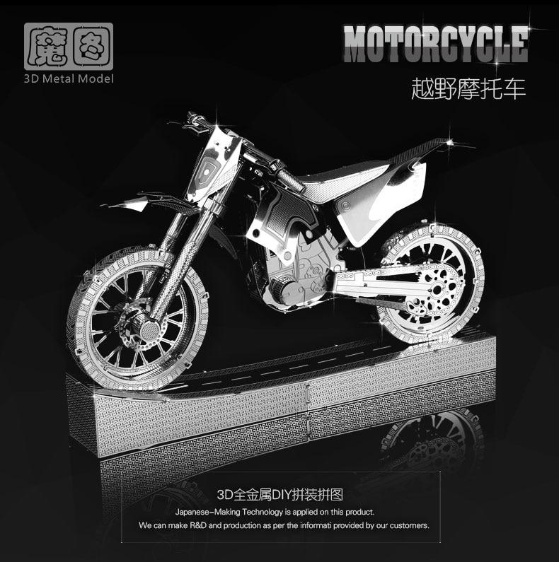 Chinois puzzle 3D Métal modèle kits 6 pouce MOTO 4 Feuilles Militaire Nano Puzzles DIY Creative cadeaux