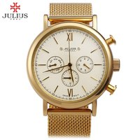 Watches Men Luxury Top Brand JULIUS New Fashion Men S Big Dial Designer Quartz Watch Male