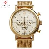 Watches Men Luxury Top Brand JULIUS New Fashion Men S Big Dial Designer Quartz Watch Male