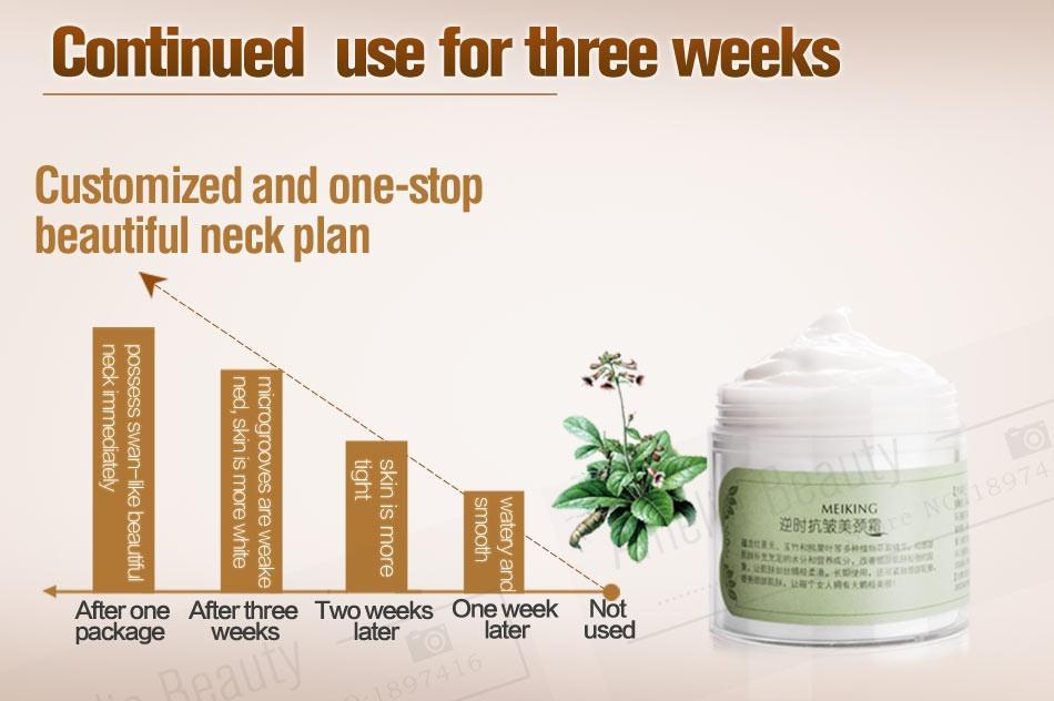 MEIKING Neck Cream Skin Care Anti wrinkle Whitening Moisturizing Firming Neck Care 100g Skincare Health Neck Cream For Women 13