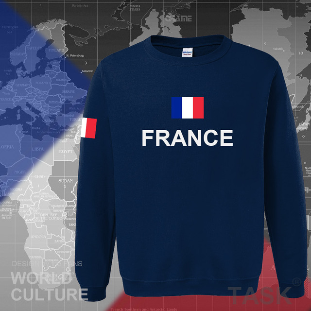 France hoodies men sweatshirt sweat new hip hop streetwear clothing jerseys FRA loose tracksuit nation French flag fleece FR 2