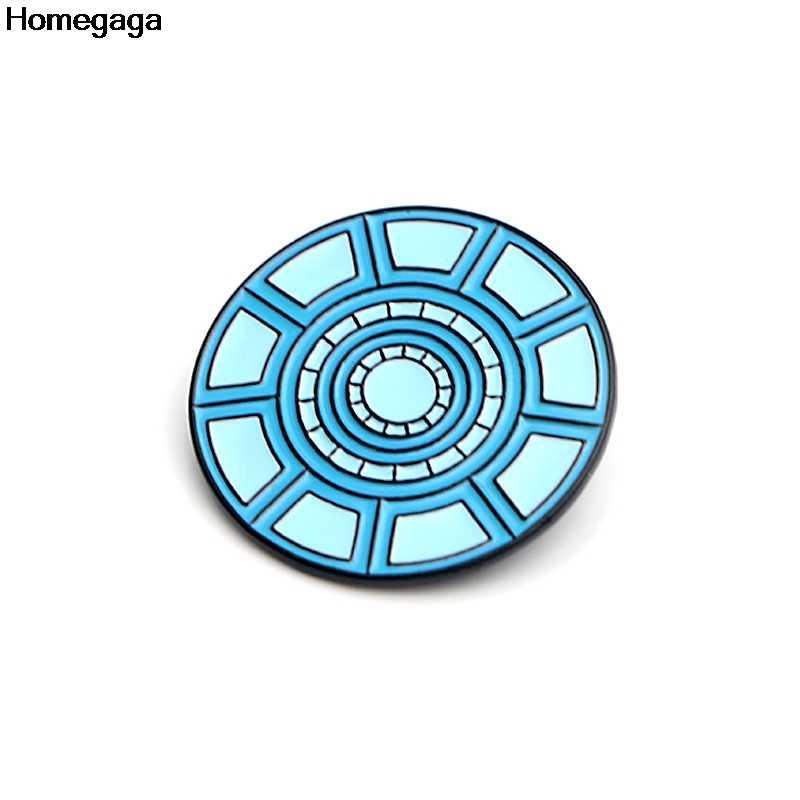 Homegaga Reattore Nucleare di Zinco Pin Badge Para Borsa Camicia di Vestiti Scarpe Zaino Spille Badge Medaglie Decorazione D2106