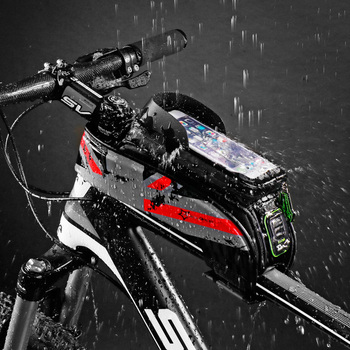 High Quality Bicycle Bag Rainproof Touch Screen Cycling Phone Bag 5.8/6.0 Cellphone Case Front Tube Tool Pouch Rockbros Bike Bag