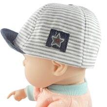 4f989d7f7cc43 Bambin bébé fille garçon mignon lettre doux Eaves casquette de Baseball  soleil béret chapeau rayé(
