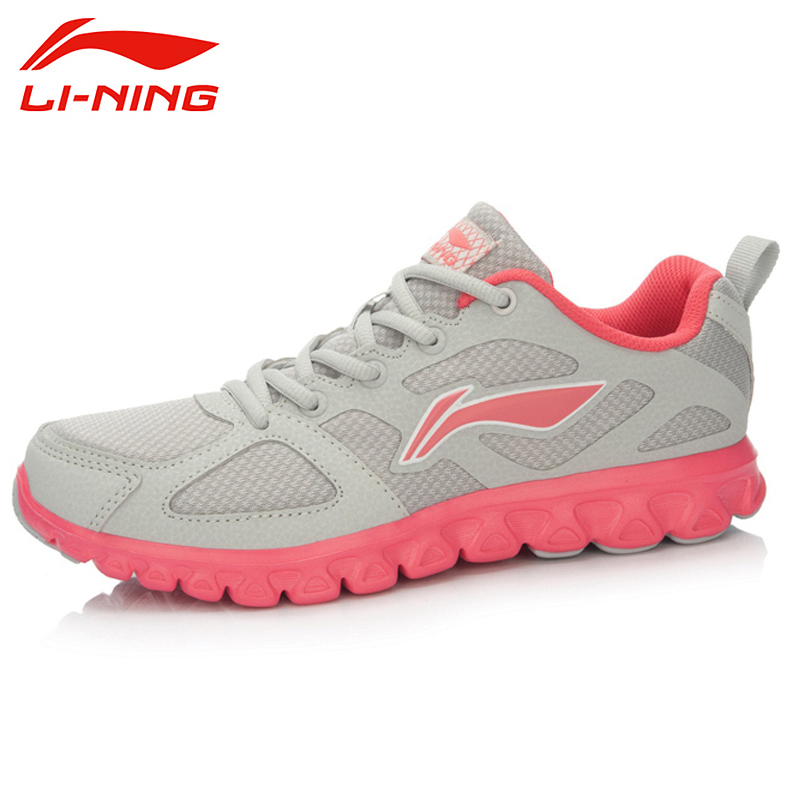 LI-NING Running Shoes Light Fabric Leather Breathable Cushioning Lace Up Light Sneakers Sport Shoes Women ARHL042 XYP307 li ning women s running shoes light mesh breathable cushioning li ning arch technology sneakers sport shoes arhk054 xyp249
