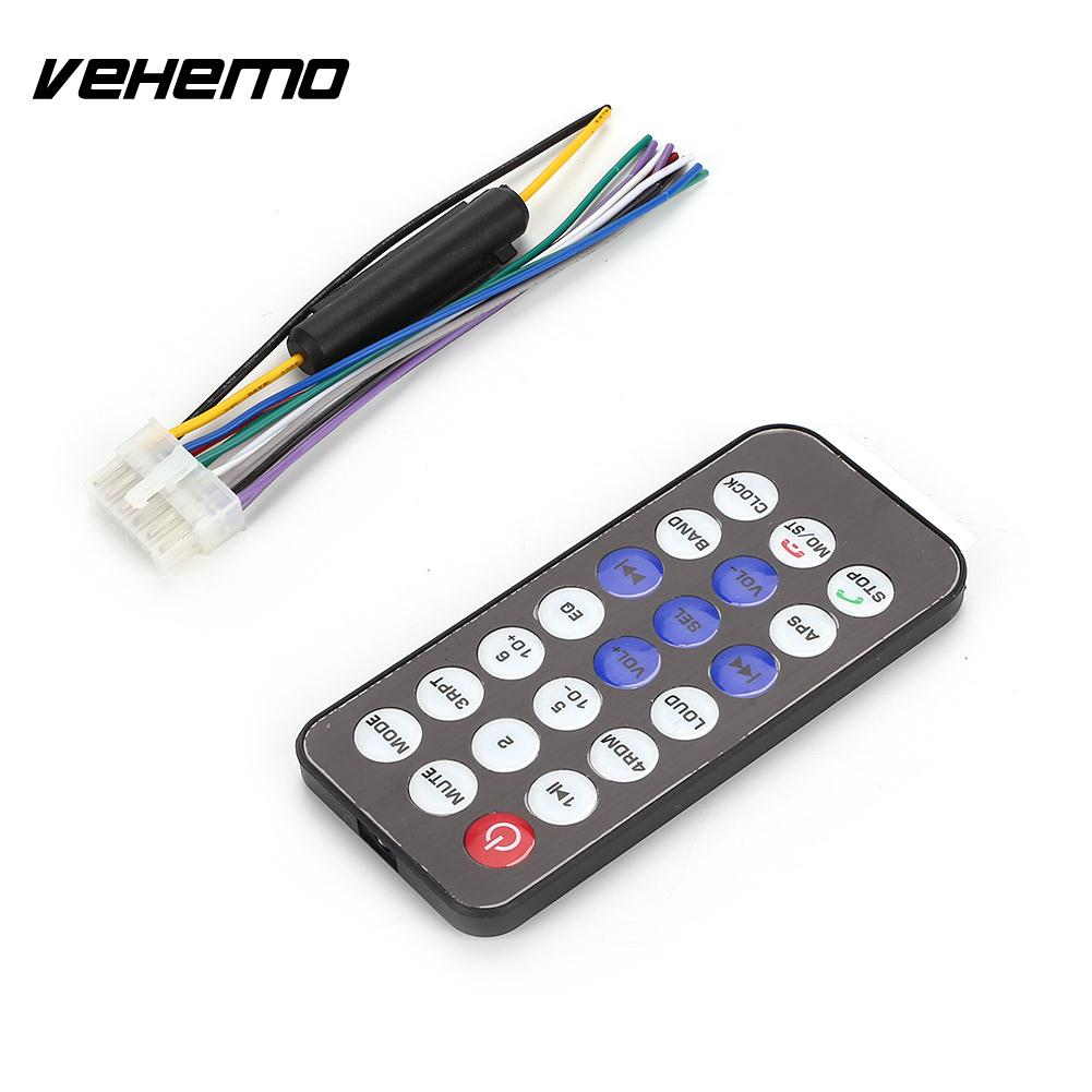 Vehemo AUX/USB/TF Auto Audio Vehicle Car Radio 12V Car MP3 Player Player AUX Input
