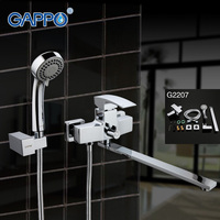 GAPPO Modern Bath Shower Set Tap Waterfall Bathtub Sink Faucet Mixer Bathroom Shower Faucet Bathtub Taps