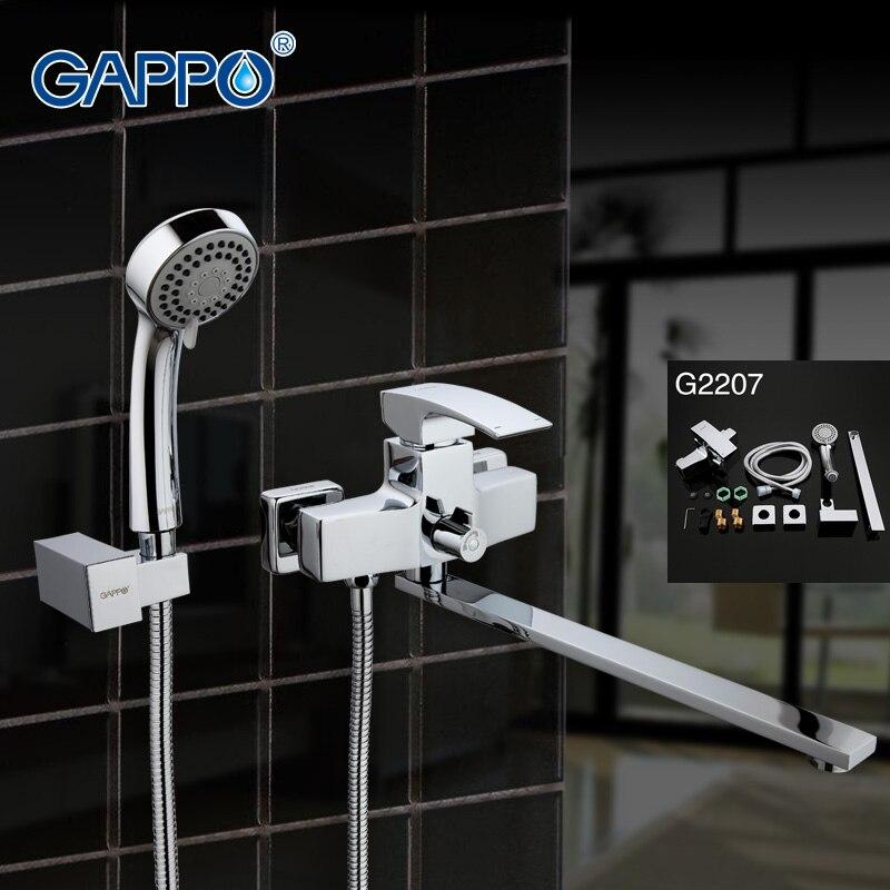 цена на GAPPO Top Bath Shower set tap Waterfall bathtub sink faucet mixer bathroom shower Faucet bathtub taps basin sink mixer G2207