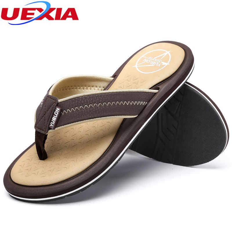e259afc6b4e7e ... UEXIA 2018 Men s Shoes Summer Stripe Flip Flops Male Slipper Flip-flops  zapatos hombre sapato ...