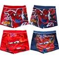 2016 Menino Swimwear Novas Crianças Maiô Meninos Spiderman Carros Thomas Crianças Swimwear Troncos Menino de Natação Traje Cosplay