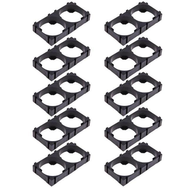 10Pcs 26650 2x Lithium Battery Triple Holder Bracket For Diy Battery Pack High Quality Battery Holder