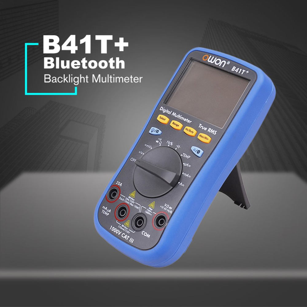 Owon B41T + Rétro-Éclairage LCD Multimètre Bluetooth AC/DC Voltmètre Ampèremètre Vrai RMS Diode Résistance Fréquence Testeur de Continuité