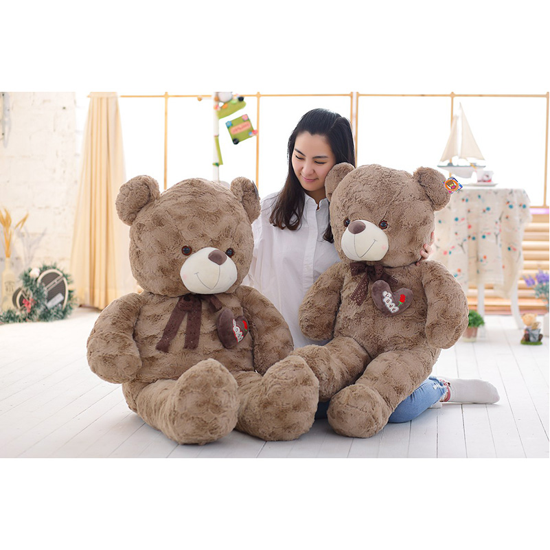 140cm Novel Curly Giant Teddy Bear Soft Plush Toys Stuffed Animals CheapTeddy Bears Skins Dolls For Gifts fancytrader new style giant plush stuffed kids toys lovely rubber duck 39 100cm yellow rubber duck free shipping ft90122