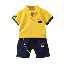 Baby Boy clothes Set Letter Short Sleeve + Shorts Set Boy clothing 2pcs Kids Children Toddler Boys Summer Clothes 2019 Summer