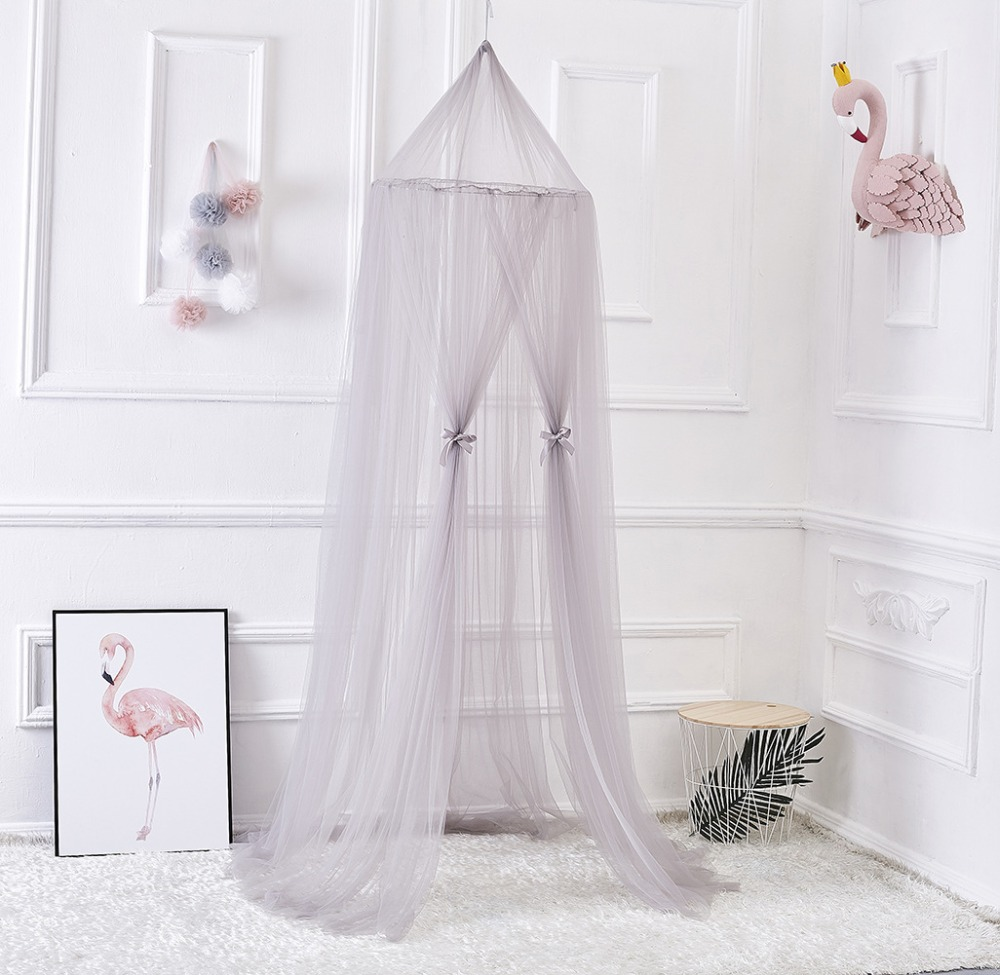 US $27.69 12% OFF|Princess Lace Baby Girl Boy Bed Net Children Room  Decoration Cribs Cot Mosquito Net Kids Bedroom Decor Photography Props  Tent-in ...