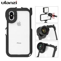 ULANZI Metal Bumper Frame Rig Cage for iphone XS XS MAX, with Cold Shoe 1/4 Thread Hole 17mm mount for Moment lens Tripod