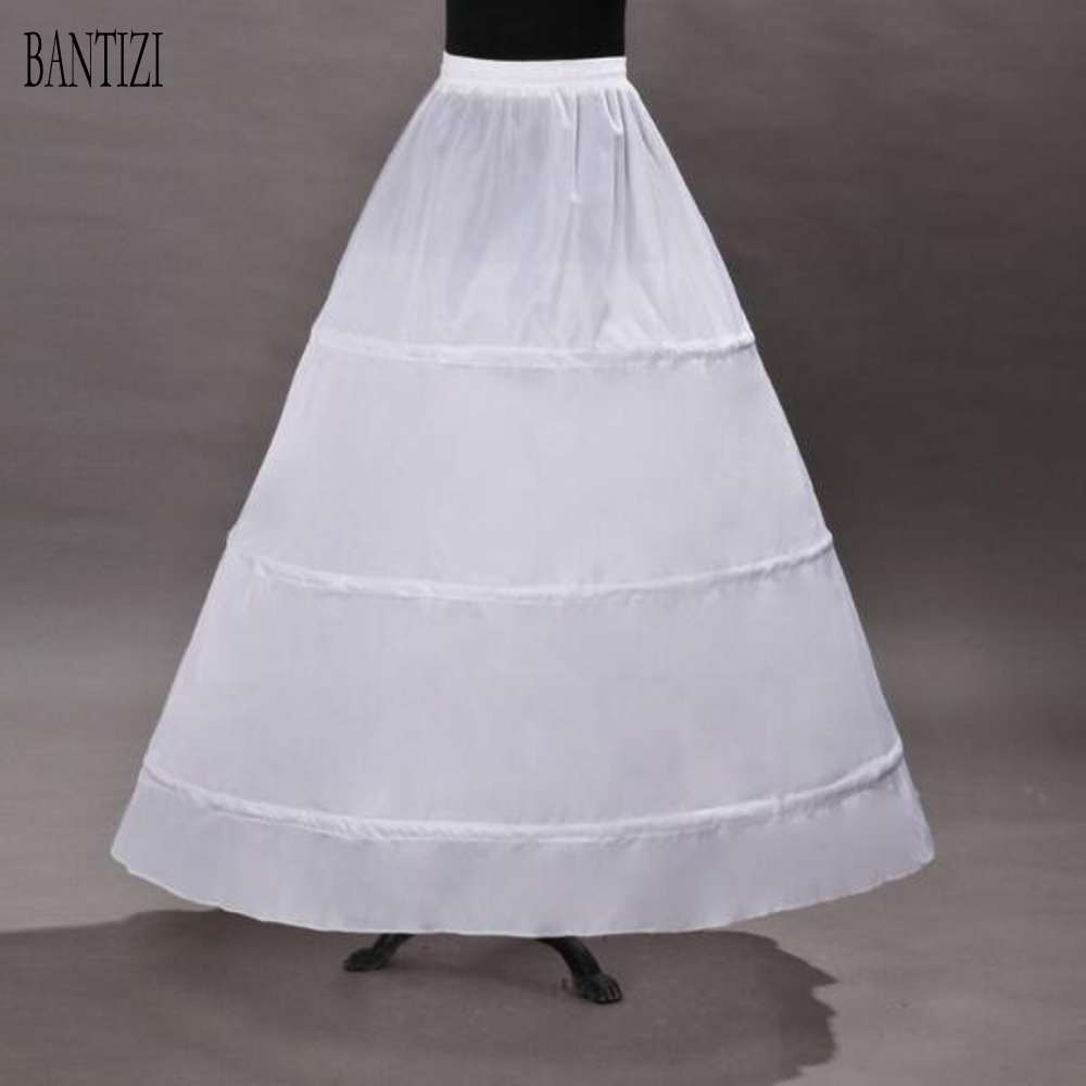 Wedding Gowns Accessories: Cheap 3 Hoops White Wedding Petticoat Wedding Dresses