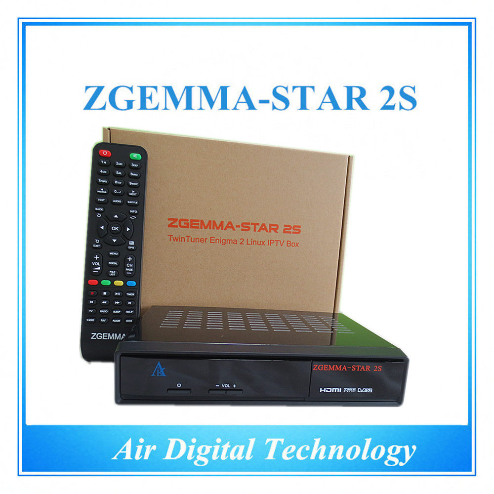 Best Selling 5pcs/lot Zgemma-star 2S with twin tuner DVB-S2+S2 Enigma2 linux hd Satellite Receiver zgemma star 2s IN STOCK s930a hd dvb s s2 twin tuner nagra 3 satellite receiver w wi fi black