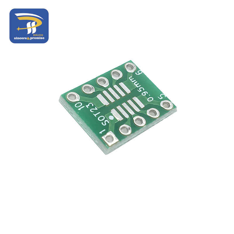 10 sztuk SOT23 MSOP10 do DIP płyta transferowa DIP tablica do notatek Pitch Adapter 0.5mm/0.95mm do 2.54mm PCB