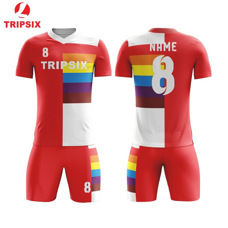1e53053d7e3 Custom Sublimation Thailand Football Shirts Polyester Quick Dry Soccer  Uniforms Sets Men Best Thai Quality Soccer Jerseys