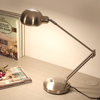 Black/Silver Modern Led Table Lamp with Adjustable Arm Eye protection Desk lamp E27 Edion Bulb for Reading Night light lamp 220V