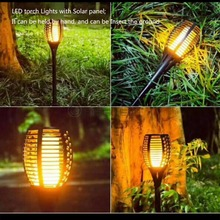Hot Solar Flame Flickering Garden LED light IP65 outdoor Smart LED Torch Light With solar panel