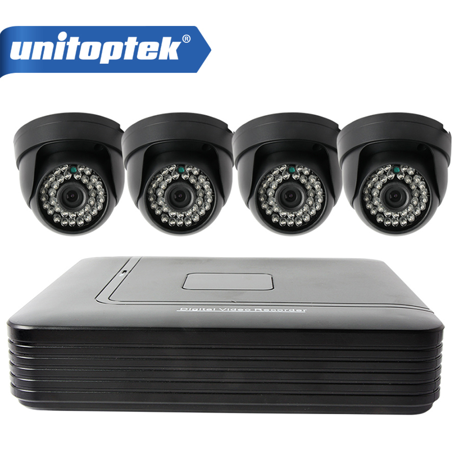 720P 4CH AHD DVR Security Camera System Kit 1.0MP Home Indoor Dome CCTV System Kit 4 Channel Surveillance AHD Camera System
