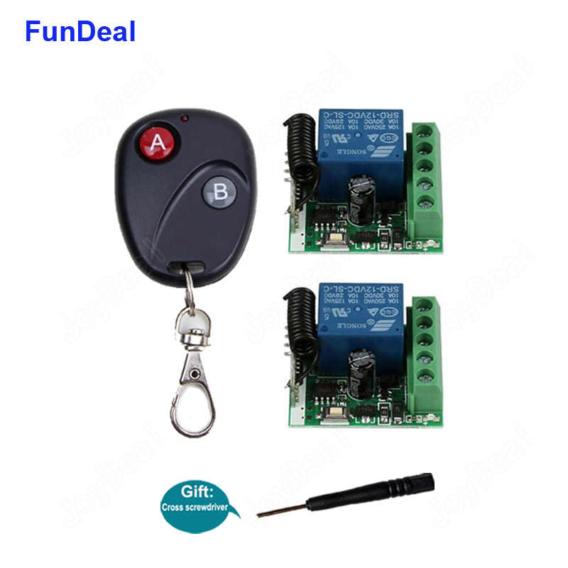 433Mhz Universal Wireless Remote Control Switch DC 12V 1CH
