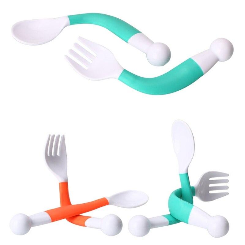 Flexible Cutlery for Children Flexible Colour Spoon Fork