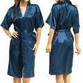 Mens Womens Plus Size Long Satin Bath Robe Sexy Kimono Silk Bathrobe Men Peignoir Homme Dressing Gown for Men Summer Robes