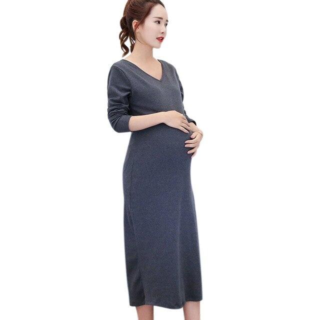 Mutterschaft Kleid Charming Schwangerschaft Langen Rock Werdende ...