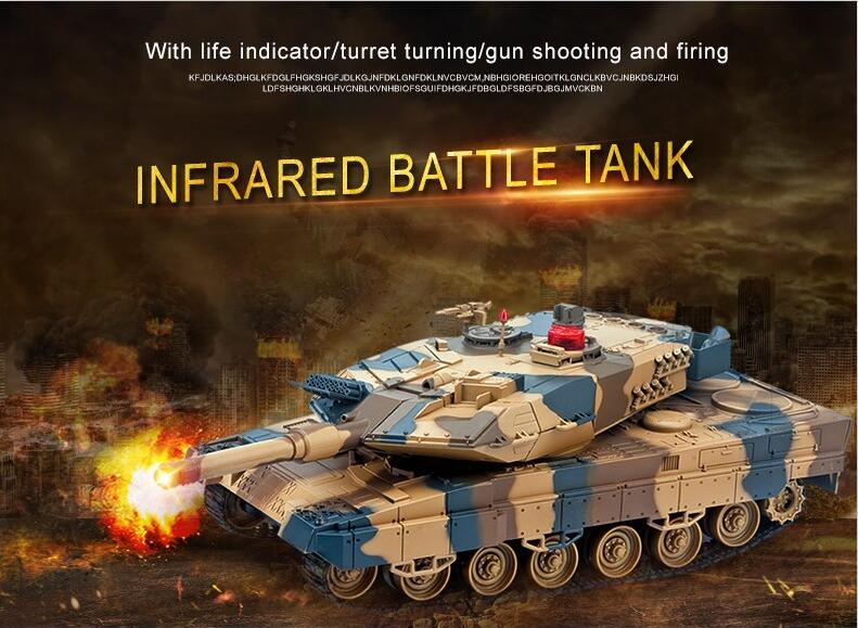 2016 new RC Tank for Kid Play rc toy HQ-516 RC battle tank charging move Infrared Fighting Remote Control Tank vs KT002-4 tank 2 4g huanqi 516c rc infrared battle tank automatic shows tank remote control toys tank for children gift 1pcs lot